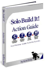 Cover of the Action Guide from Site Build It!